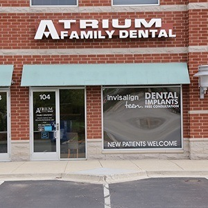 Outside view of Atrium Family Dental
