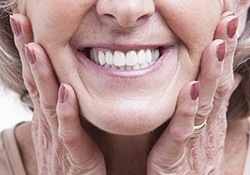 Closeup of full healthy smile